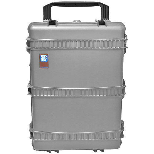 Porta Brace PB-2850 Wheeled Hard Case with Foam (Silver Platinum)