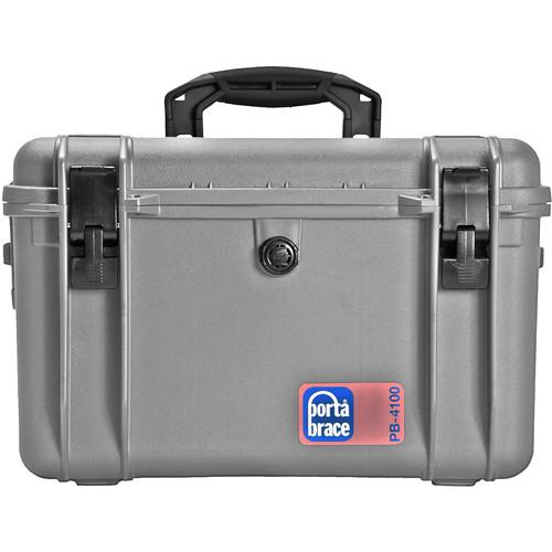 Porta Brace PB-4100F Hard Case with Foam Interior (Silver Platinum)