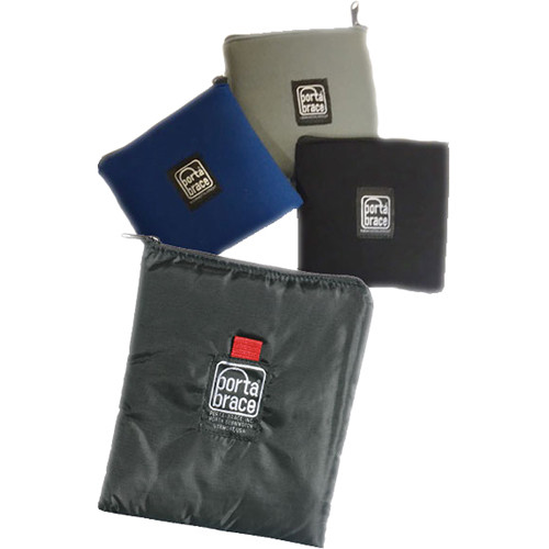 "Porta Brace Padded Cordura Case for Five 4-4.5"" Filters (Set of 3, Black/Silver/Blue)"