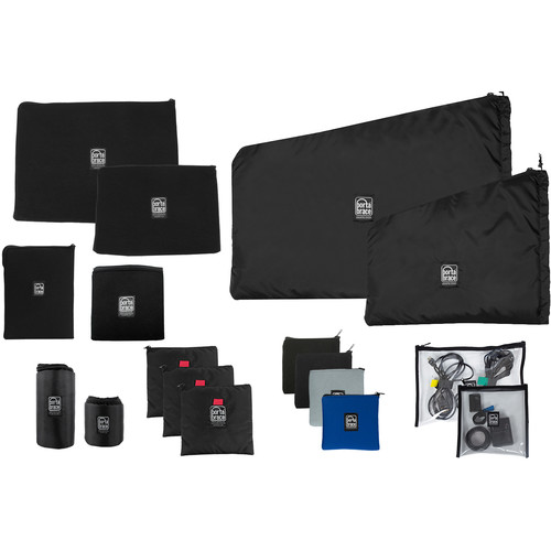 Porta Brace 13-Pouch Set with Two Clear Pouches and Two Lens Cups