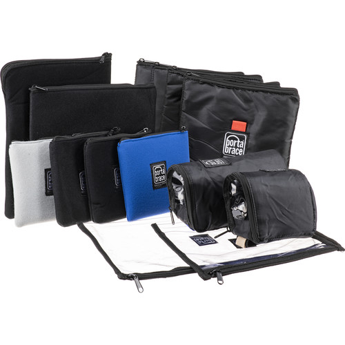 PortaBrace 9-Pouch Set with Two Large Clear Pouches & Two Lens Cups