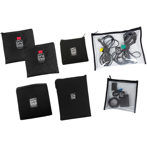 PortaBrace POUCH-SPECIALSET Padded Fabric and Clear Vinyl Pouches