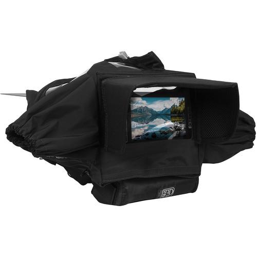 PortaBrace Rain Cover for Canon EOS 1D X Mark III - Standard Lens or Matte Box (Black)