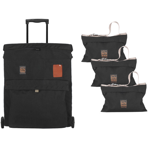 PortaBrace Three 25 lb Sandbags with Wheeled Case