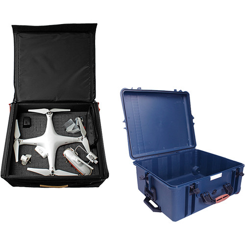 Porta Brace Wheeled Hard Case with Backpack Bundle for Phantom Quadcopter or Ronin-M