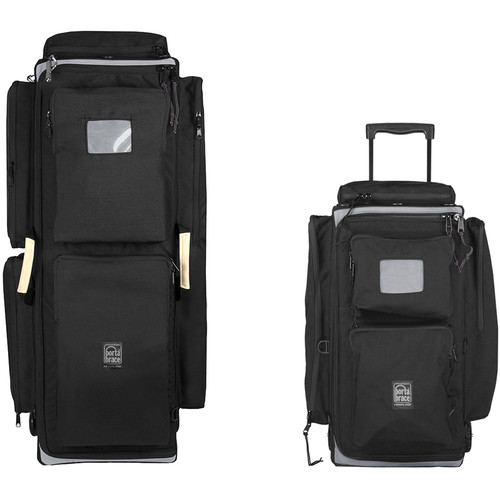 Porta Brace WPC-1ORB & WPC-2ORB Wheeled Production Case Set (Midnight Black)