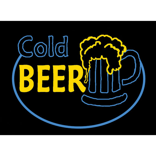 """Porta-Trace / Gagne LED Light Panel with Cold Beer Logo (11 x 18"""")"""