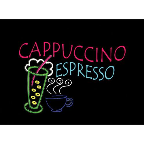 """Porta-Trace / Gagne LED Light Panel with Cappuccino Espresso Logo (11 x 18"""")"""