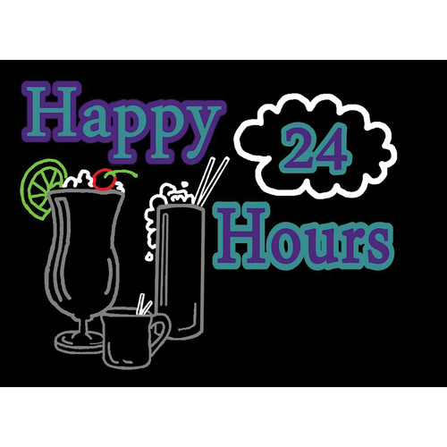 "Porta-Trace / Gagne LED Light Panel with Happy Hours 24 Logo (11 x 18"")"