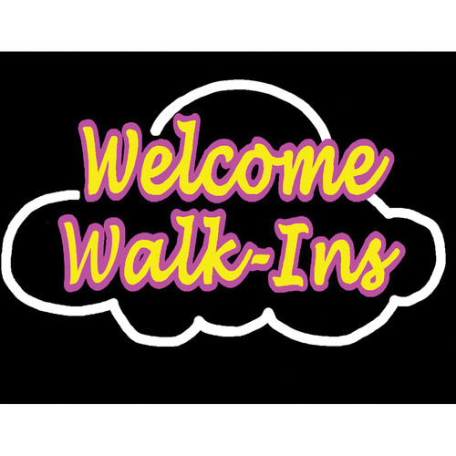 """Porta-Trace / Gagne LED Light Panel with Welcome Walk-Ins Logo (11 x 18"""")"""