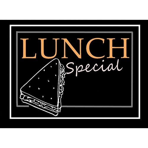 "Porta-Trace / Gagne LED Light Panel with Lunch Special Logo (16 x 18"")"