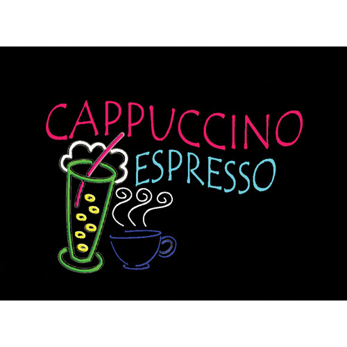 "Porta-Trace / Gagne LED Light Panel with Cappuccino Espresso Logo (18 x 24"")"