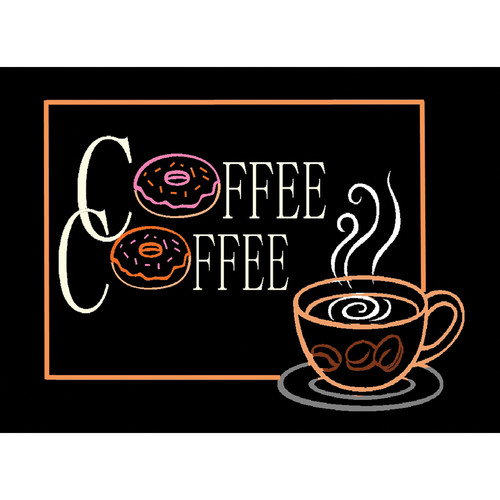 "Porta-Trace / Gagne LED Light Panel with Coffee Logo (18 x 24"")"