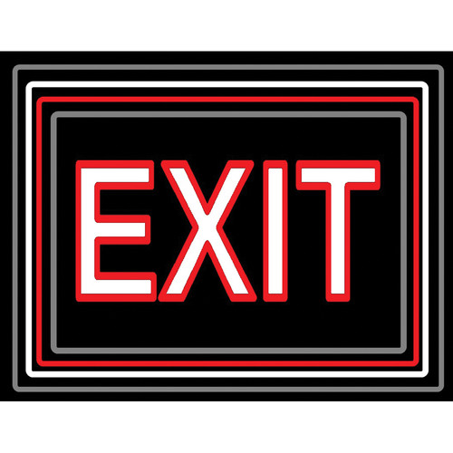 "Porta-Trace / Gagne LED Light Panel with Exit Logo (18 x 24"")"