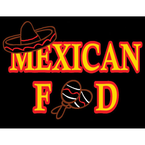 "Porta-Trace / Gagne LED Light Panel with Mexican Food Logo (18 x 24"")"