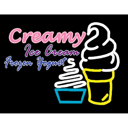 "Porta-Trace / Gagne LED Light Panel with Creamy Ice Cream Frozen Yogurt Logo (24 x 36"")"