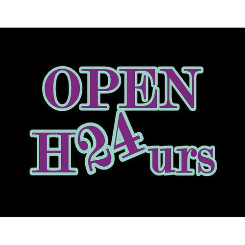 "Porta-Trace / Gagne LED Light Panel with Open 24 Hours Logo (24 x 36"")"