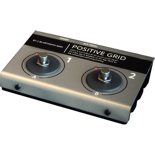 Positive Grid BT-2 Wireless Bluetooth Controller with 2 Buttons for iOS