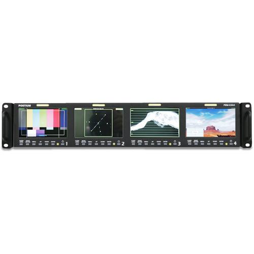 "Postium Korea Quad 4.3"" LCD 2RU Multi-Channel Rack Monitor"