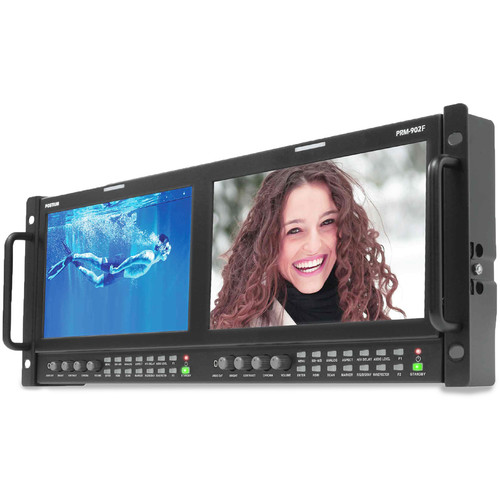 "Postium Korea PRM-902F Dual 9"" LCD 4RU Multi-Channel Rack Monitor"