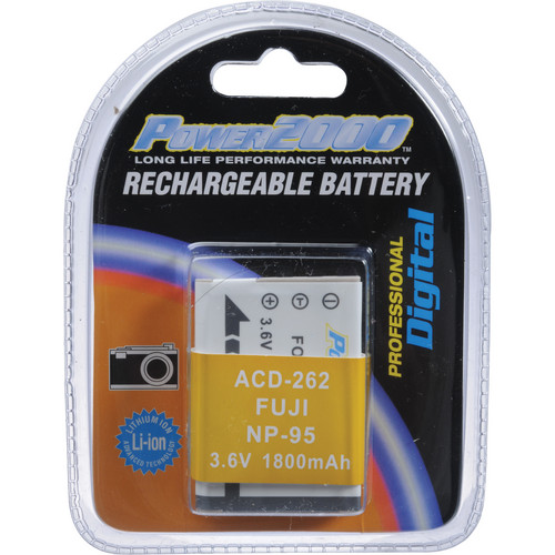 Power2000 NP-95 Rechargeable Battery Pack (3.7 V, 1800 mAh)