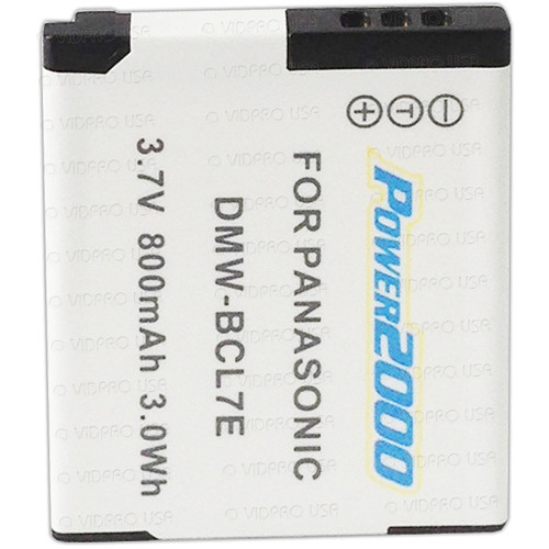 Power2000 DMW-BCL7 Lithium-Ion Battery Pack for Select Panasonic LUMIX Cameras