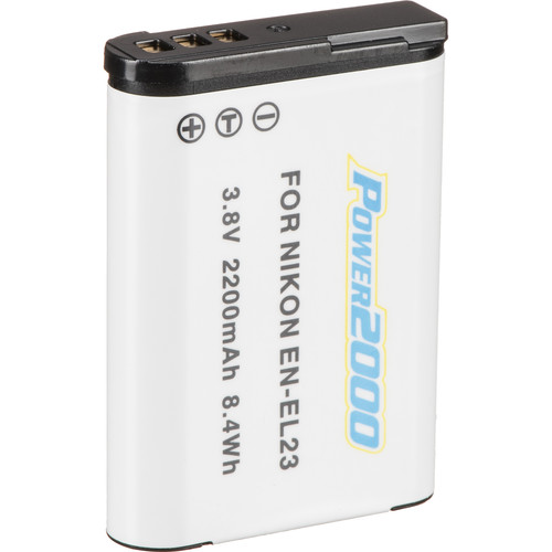 Power2000 EN-EL23 Rechargeable Lithium-Ion Battery (3.8V, 2200mAh)