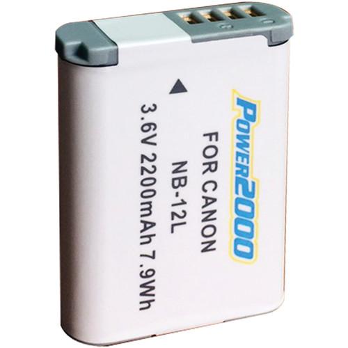 Power2000 NB-12L Lithium-Ion Battery Pack (3.6V, 2200mAh)