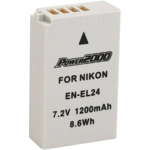 Power2000 EN-EL24 Rechargeable Lithium-Ion Battery (7.2V, 1,200mAh)