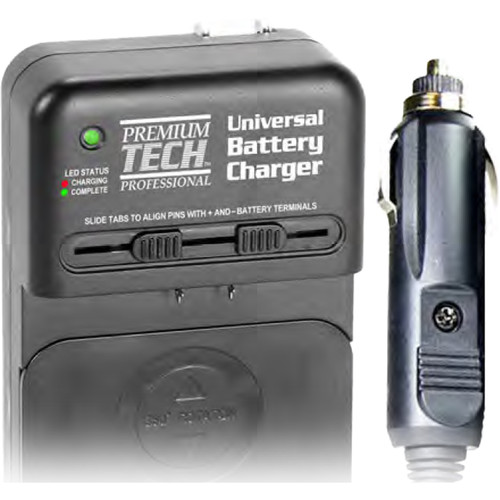 Power2000 PT-UNC Universal AC/DC Li-Ion Battery Charger with Car Plug Adapter