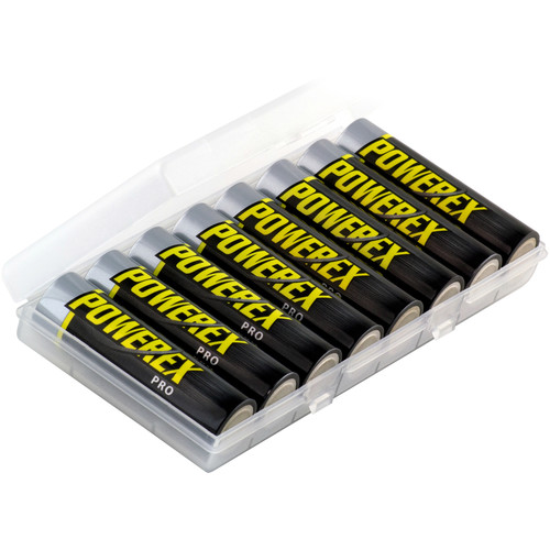 Powerex Pro Rechargeable AA NiMH Batteries (1.2V, 2700mAh, 8-Pack)