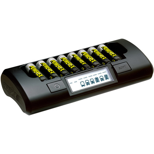 Powerex MH-C801D 8-Cell Charger with 8 Pro Rechargeable AA NiMH Batteries (1.2V, 2700mAh)