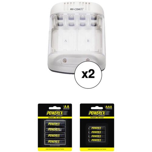 Powerex MH-C204GT Smart Charger Bundle