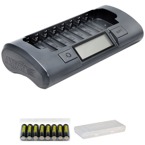 Powerex Rechargeable AA NiMH Batteries and 8-Cell Smart Charger Kit