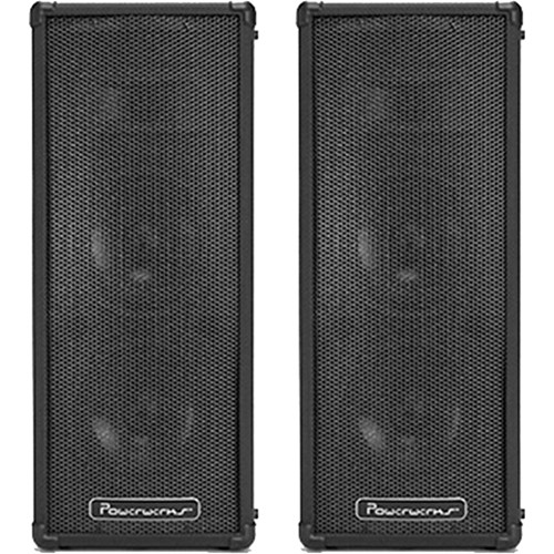 "Powerwerks PW4X6BT 2x6"" 2-Way 100W All-In-One Portable Bluetooth-Enabled PA System with Extension Speaker"