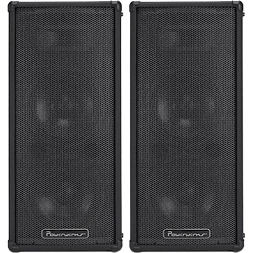 "Powerwerks PW4X8BT 2x8"" 2-Way 100W All-In-One Portable Bluetooth-Enabled PA System with Extension Speaker"