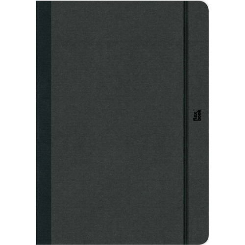 """Prat Flexbook Notebook with 192 Blank Pages (Black, 6.75 x 9.5"""")"""