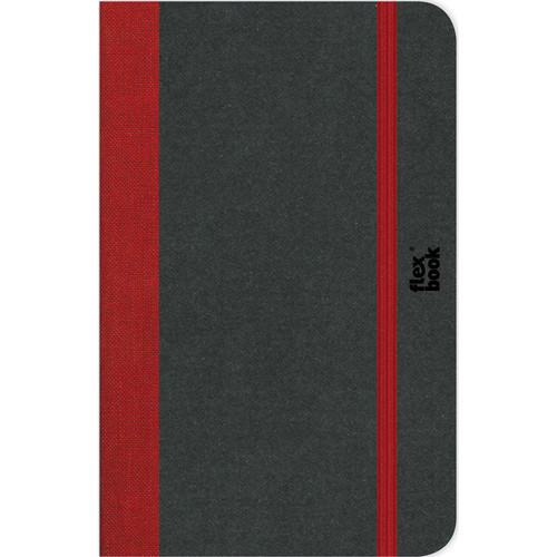 """Prat Flexbook Notebook with 192 Blank Pages (Red, 3.5 x 5.5"""")"""