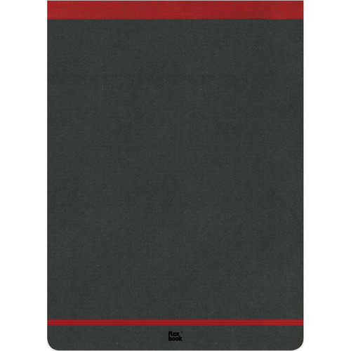 """Prat Flexbook Notepad with 160 Ruled Perforated Pages (Red, 8.25 x 11"""")"""