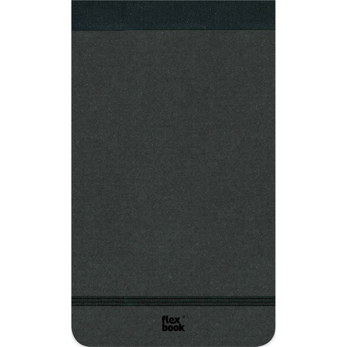 "Prat Flexbook Notepad with 160 Ruled Perforated Pages (Black, 4 x 6.75"")"