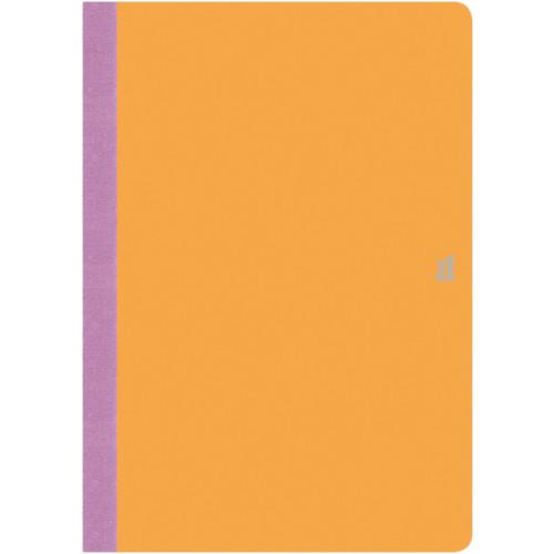 "Prat Flexbook Smartbook Journal with 160 Ruled 70 gms Pages (6¾ x 9½"", Orange)"