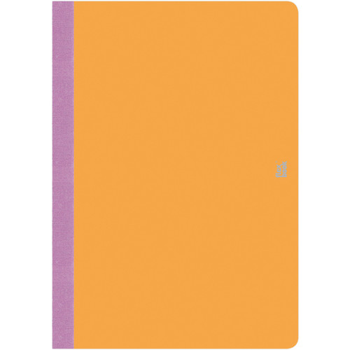 "Prat Flexbook Smartbook Journal with 160 Ruled 70 gms Pages (6¾ x 9½"", Orange)"