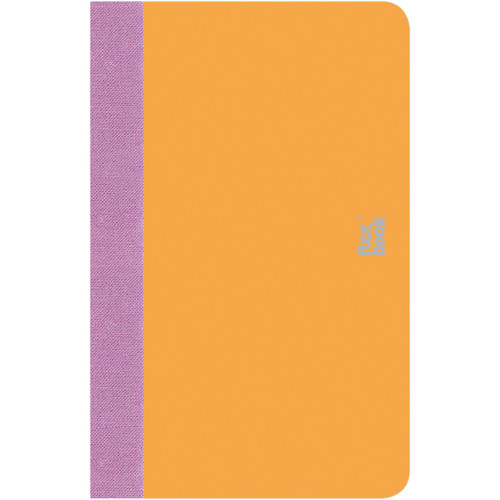 "Prat Flexbook Smartbook Journal with 160 Ruled 70 gms Pages (3½ x 5½"", Orange)"