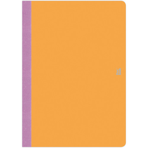 "Prat Flexbook Smartbook Journal with 160 Blank 70 gms Pages (6¾ x 9½"", Orange)"