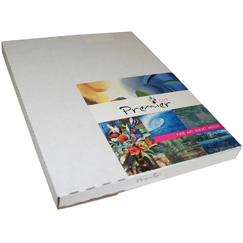 """Premier Imaging Smooth Fine Art Natural White Paper (205 gsm, 8.5 x 11"""", 50 Sheets)"""