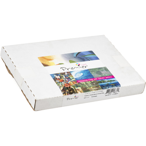 "Premier Imaging Generations Alise Natural White Museum Grade Fine Art Paper (8.5 x 11"", 50 Sheets)"