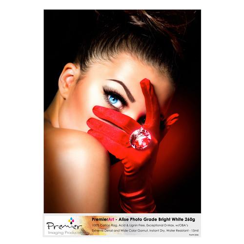 "Premier Imaging Alise Photo Grade Fine Art Bright White Paper (8.5 x 11"", 20 Sheets)"