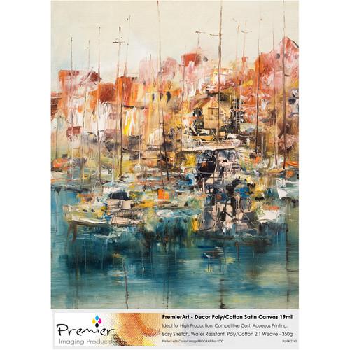 """Premier Imaging Decor Poly Cotton Satin Canvas (11 x 17"""", 10 Sheets)"""