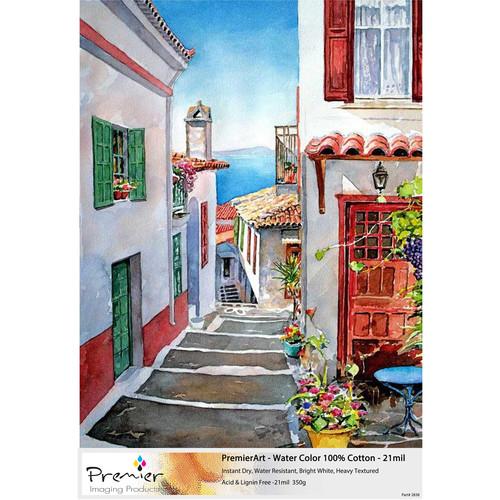 """Premier Imaging PremierArt Cold Press Watercolor Paper (17 x 22"""", 50 Sheets)"""