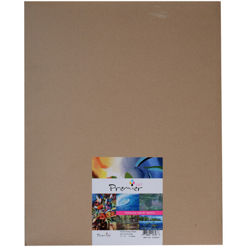 "Premier Imaging Generations Bright Satin Museum Grade Canvas (13 x 19"", 10-Sheets)"